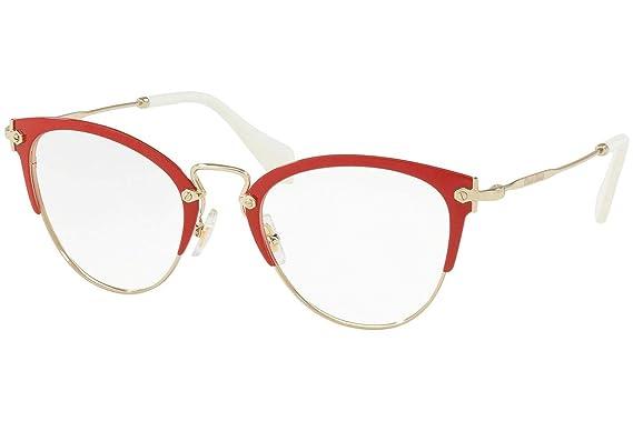 227ef5d39cc6 Image Unavailable. Image not available for. Color: Miu Miu MU50QV Eyeglasses  ...