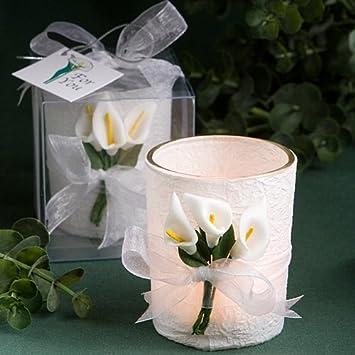 Amazoncom Fashioncraft Calla Lilly Wedding Favor Candles 30