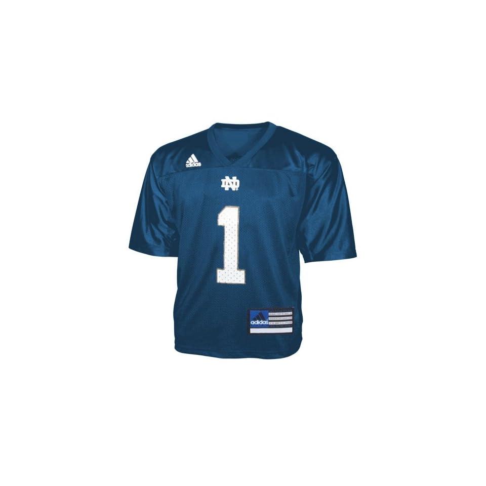 Adidas Notre Dame Fighting Irish #1 Navy Infant Replica Football Jersey
