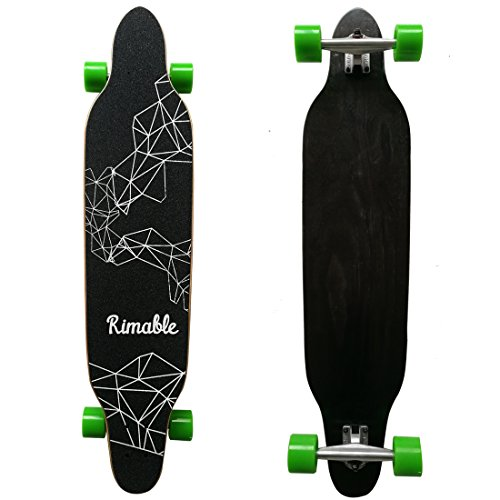 Rimable 42 Inch Freestyle Topmount Longboard BLACKGREEN