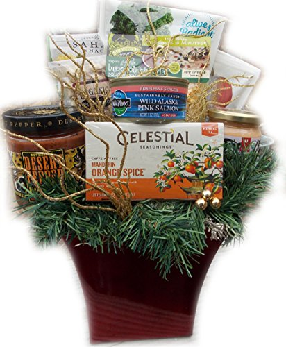 Deluxe Diabetic Healthy Christmas Gift Basket by Well Baskets