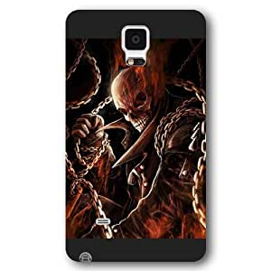 UniqueBox Customized Marvel Series Case for Samsung Galaxy Note 4, Marvel Comic Hero Ghost Rider Samsung Galaxy Note 4 Case, Only Fit for Samsung Galaxy Note 4 (Black Frosted Case) WANGJING JINDA