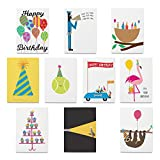 R. Nichols Assorted Birthday Cards with Envelopes (Pack of 10)