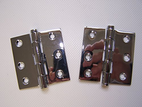 (204630 Sea-Dog Line Removable Pin Butt Hinge Pair (2) Chrome Over Brass 2-1/2