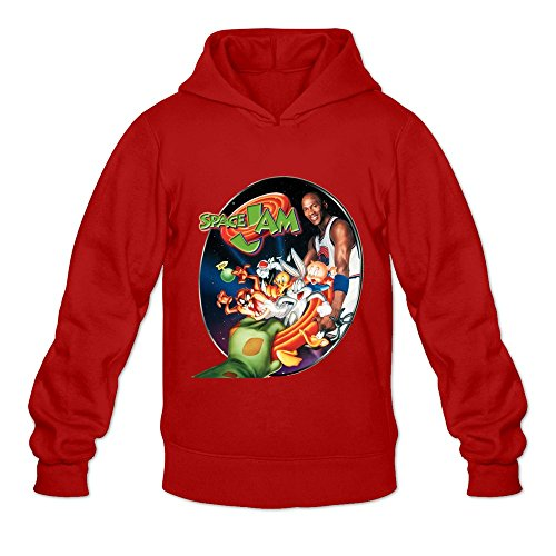 Leberts Red Space Jam Casual Hoodies For Mens Size Small