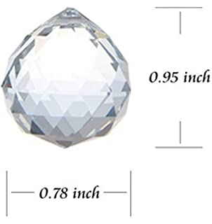 Amazon 25 yardsmeters of swarovski crystal garland for clear crystal hanging faceted ball prism 20mm 12 piece aloadofball Image collections
