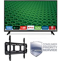 Vizio D32F-E1 D-Series 32 Class Full Array LED Smart TV (2017 Model) (Certified Refurbished) + WALL MOUNT + 1 YEAR EXTENDED CPS LIMITED WARRANTY