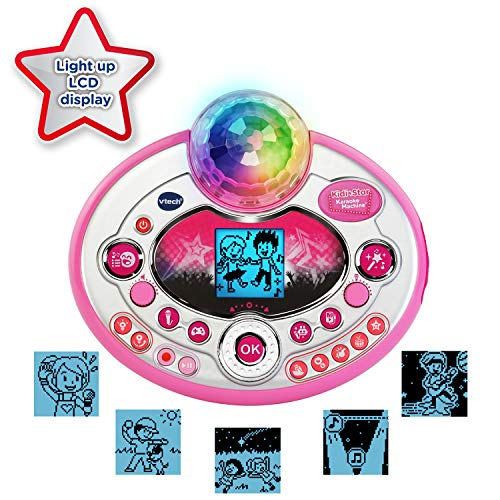 VTech Kidi Star Karaoke System 2 Mics with Mic Stand & AC Adapter, Pink by VTech (Image #2)