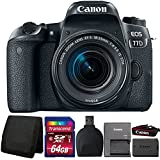 Canon EOS 77D 24.2MP DSLR Camera with 18-55mm Lens and Accessory Kit
