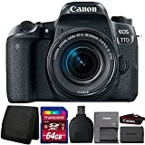 Cheap Canon EOS 77D 24.2MP DSLR Camera with 18-55mm Lens and Accessory Kit
