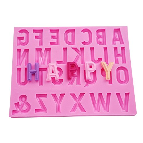 WYD Artistic Font Letters Collection 3D Cake Chocolate Clay Mould Making Easy Release Moulding Moulds Baking Molds(1576)