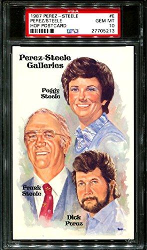 1987 Perez Steele (1987 PEREZ-STEELE HOF POSTCARD #E DICK PEREZ PSA 10 B2503917-213)
