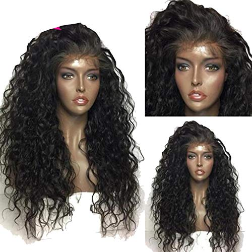 Kinky Curly Lace Front Wigs With Baby Hair Full Remy 13X3 Pre Plucked Brazilian Lace Front Human Hair Wig Natural Hairline,#2,8inches,130 Density Wig -