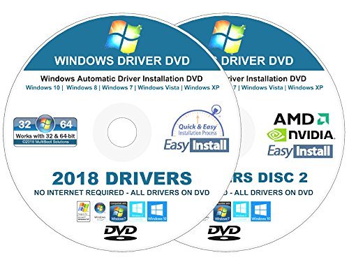 Windows Vista Installation Dvd - 2018 Universal Driver Installation DVD For Windows 10, 8 -8.1, 7, Vista, XP – No Internet Needed To Install Drivers- Supports HP, Dell, Toshiba Gateway Acer Asus Lenovo Compaq, eMachines - 2 DISC Set