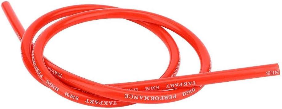 8mm Silicone Cavo accensione accensione Cavo Ricambio accessori auto Part Yctze Cavo accensione auto Rosso