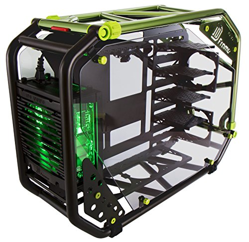 InWin D-Frame 2.0 BK/GR  Green/Black Motorcycle Steel Tube ATX Full Tower Case includes SII-1065W Power supply Cases D-Frame 2.0 by InWin (Image #4)