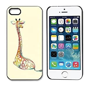 amtonseeshop New Stylish Personalized Hot Painted Pattern Hard Back Case for iPhone 5 5S (Giraffe)