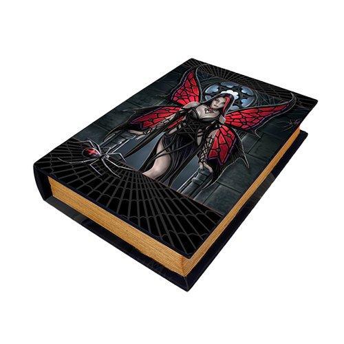 9.25 Inch Aracnafaria Book Rectangle Jewelry Trinket Box Figurine