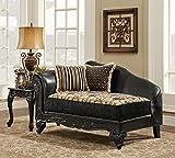 Chelsea Home Furniture Gwendolyn Chaise, Monte Carlo Ebony/Bi-Cast Ebony