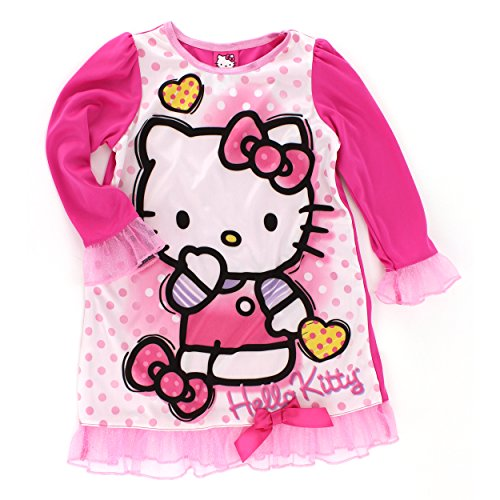 - Hello Kitty Girls Pink Nightgown Pajamas (10)