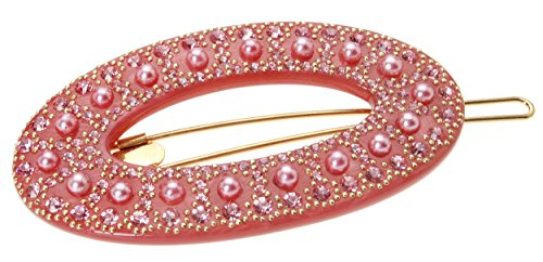 FRANCE LUXE Marcella Large Tige Boule Barrette - Light Ro...