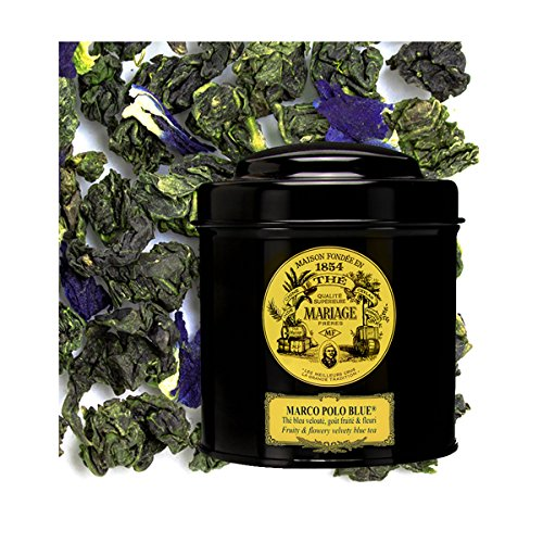 MARIAGE FRERES. Marco Polo Blue, 100g Loose Tea, in a Tin Caddy (1 Pack) NEW EDITION - USA ()