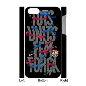 3D IPhone 4/4s Cases FC Barcelona Quotes Together We Are Strong, Hipster Design FC Barcelona Cases Bloomingbluerose, {White}