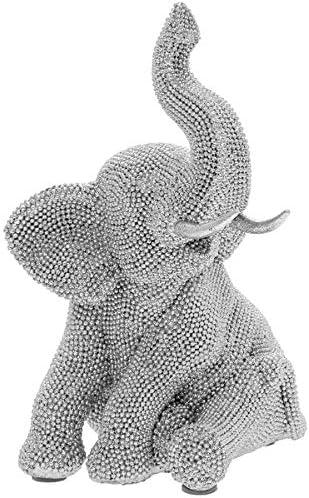 The Leonardo Collection Lesser /& Pavey Arte dargento Elefante Ornamento Animale Statua Figurita Casa