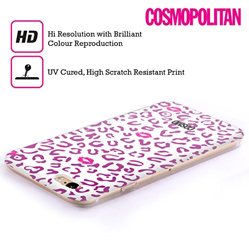 Official Cosmopolitan Violet And White Sassy Leopard Soft Gel Case for Apple iPhone 5 / 5s / SE
