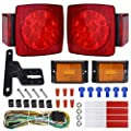WoneNice LED Submersible Trailer Tail Light Kit, Combined Stop, Taillights, Turn Function, DOT Compliance, IP67 Waterproof and Fully-Submersible