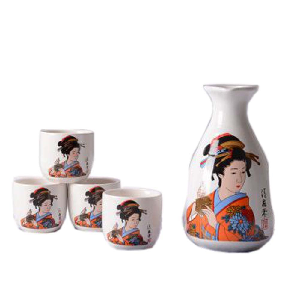 FANCY PUMPKIN Creative Sake Rice Wine Pitcher Cups Sets for Japanese Restaurant, 07