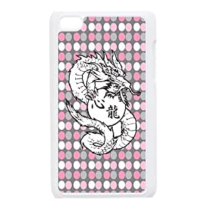 Ipod Touch 4 Phone Case Chinese Ancient totem Dragon L5405