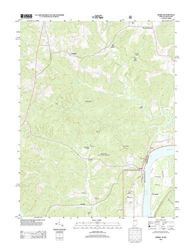 Topographic Map Poster - DERBY, IN-KY TNM GEOPDF 7.5X7.5 GRID 24000-SCALE TM 2012 17