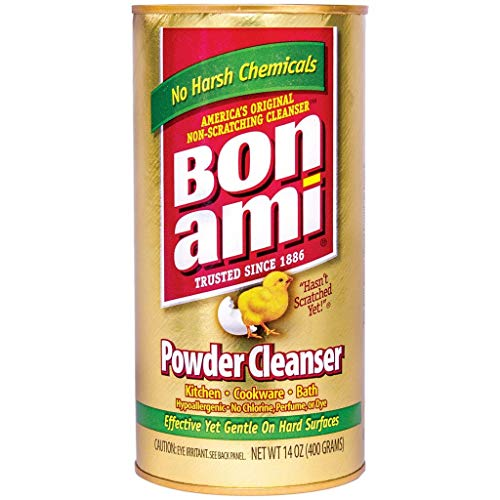 BON AMI Powder Cleanser for Kitchens & Bathrooms - All Types of Surfaces, Cleans Grime & Dirt, Polishes Surfaces, Absorbs Odors (24 Pack)