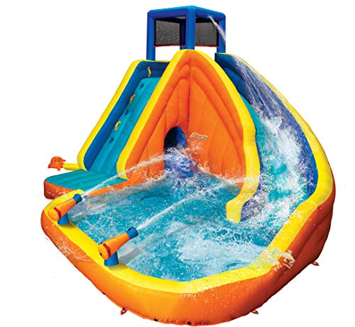 - BANZAI 90494 Sidewinder Falls Inflatable Water Slide with Tunnel Ramp Slide