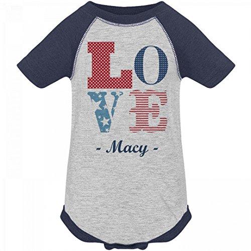 July 4th Love America Macy: Infant Vintage Raglan - America Macy's