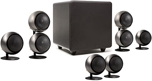 Orb Audio People s Choice 5.1 Home Theater Surround Sound Speaker System in Hand Polished Steel