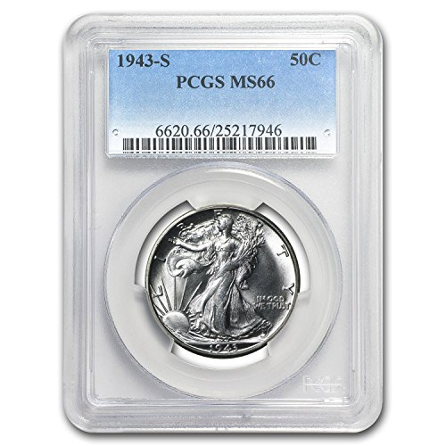 1943 S Walking Liberty Half Dollar MS-66 PCGS Half Dollar MS-66 PCGS