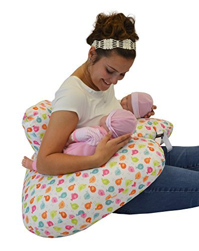 THE TWIN Z PILLOW - Waterproof BIRDIES Pillow - The only 6 in 1 Twin Pillow Breastfeeding, Bottlefeeding, Tummy Time & Support! A MUST HAVE FOR TWINS! - No extra cover by Twin Z PIllow (Image #3)