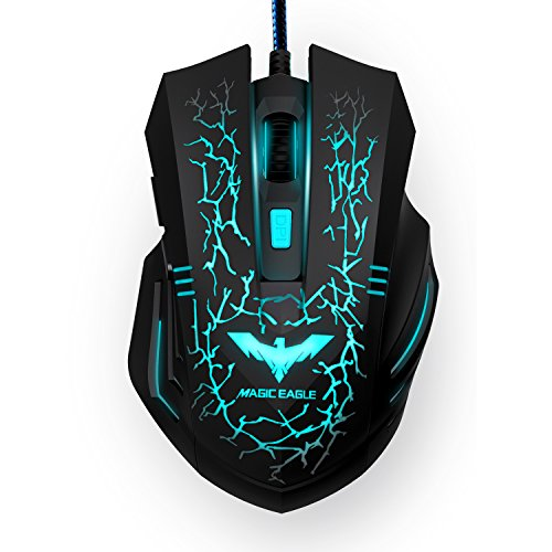 HAVIT HV-MS672 Ergonomic Wired Mouse, 7 Soothing LED Colors, 6 Buttons [ Updated Version ]