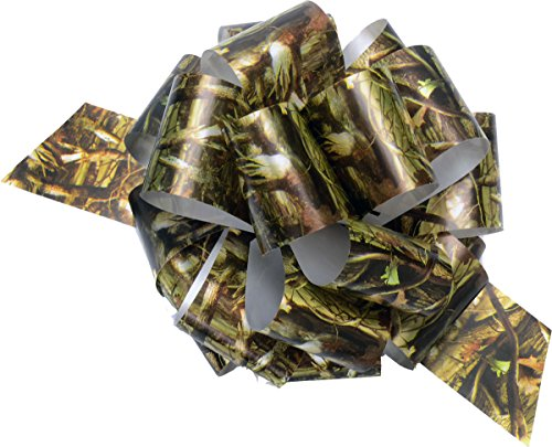 (Camo Bows (3 pack, poly ribbon pull bows, 5