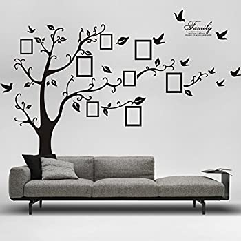 Amazoncom Picture Frame Tree Removable Wall Decor Decal Sticker - Wall decals removable