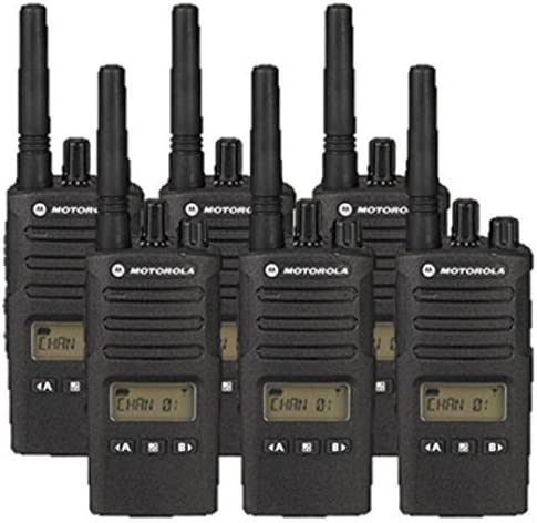 6 Pack of Motorola RMU2080D Two way Radio Walkie Talkie