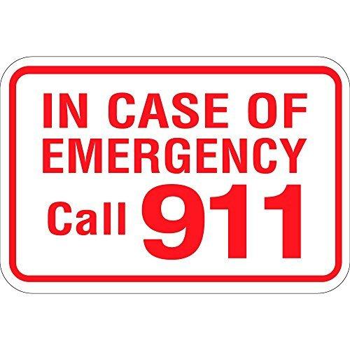 En caso de emergencia llamada 911 decoración del hogar signo ...