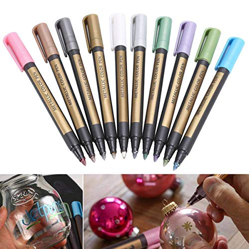6 Colours Art Pen Set for Rock Wood Kunstbor Acrylic Metallic Paint Marker Pens