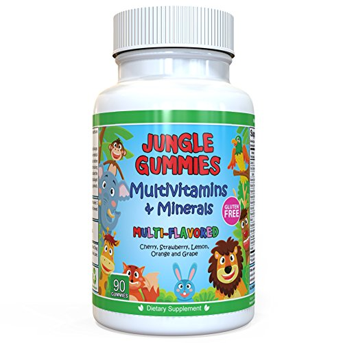 Acidophilus Chew (Age 2+ Children's Multivitamin & Mineral Healthy Supplement - Multivitamins With Vitamin A, B6, B12, C, D, E, Folic Acid, Biotin, Iodine and more - 90 Softgel Easy Chew Gummies 45 Day Supply)