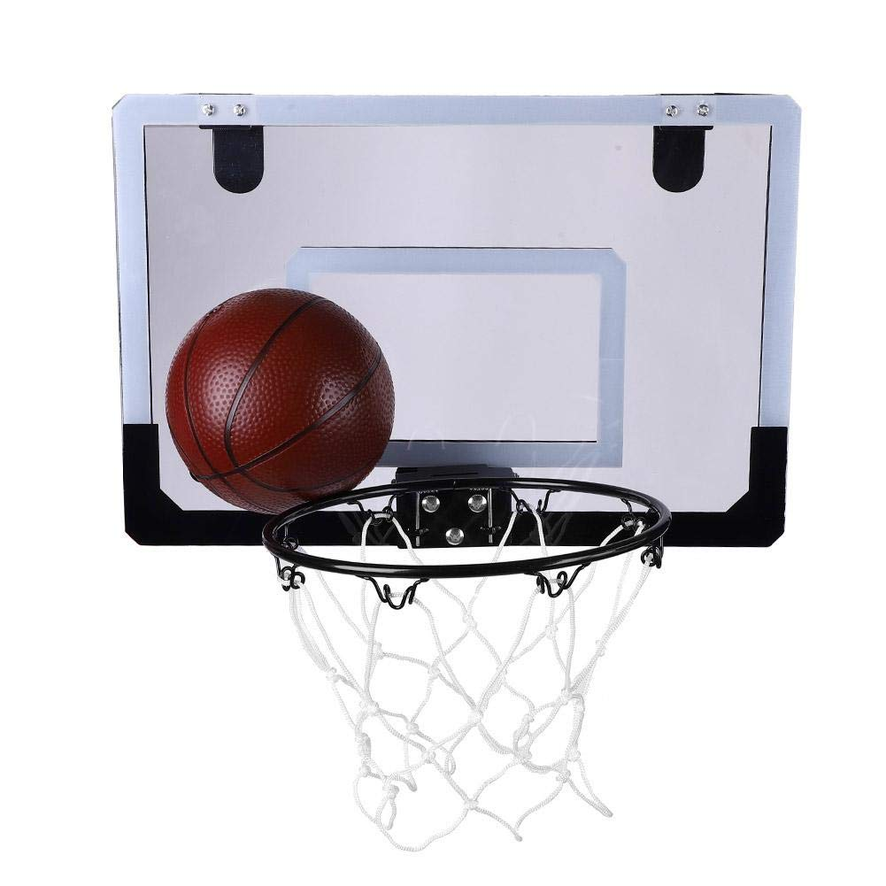 Alomejor ウォールマウントバスケットボールフープキット インドアミニバスケットボールシステム 子供用 トレーニングおもちゃセット B07PKS99MN