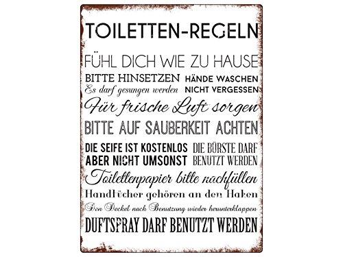 Cartel para pared Baños de metal Cartel Reglas divertido ...