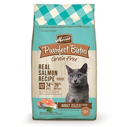 Merrick Purrfect Bistro Grain Free Real Salmon Adult Dry Cat Food, 4 lbs.