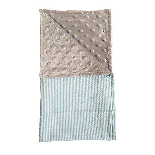 - The Coral Palms Seersucker & Minky Cuddly Stroller Blanket (Sky Blue & Gray)